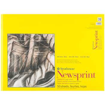 "Strathmore 300 Series Rough Newsprint Paper Pad - 18"" x 24"""
